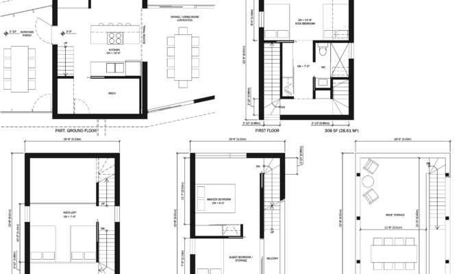 Oliphant House Floor Plans During Design Development
