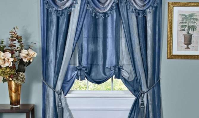 Ombre Crushed Fabric Curtain Panel Bath Outlet