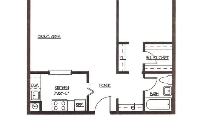 One Bedroom Apartment Layout Home Design