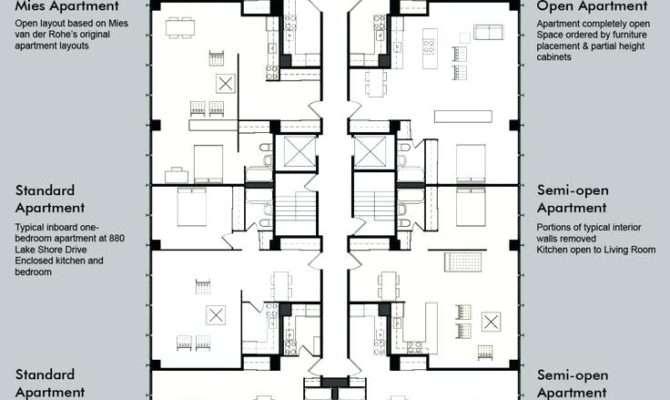 One Bedroom Apartment Plans Floor
