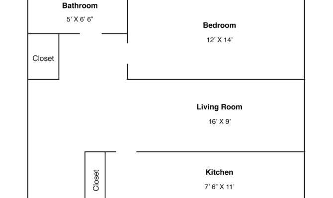 One Bedroom Floor Plan