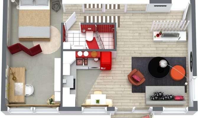 One Bedroom Floor Plans Roomsketcher