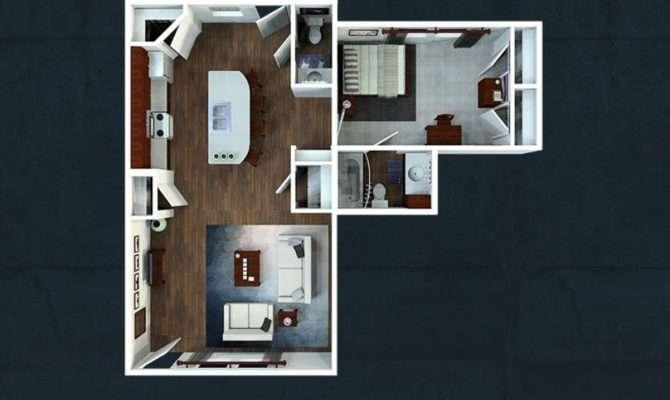 One Bedroom Floorplans Avenue Lubbock