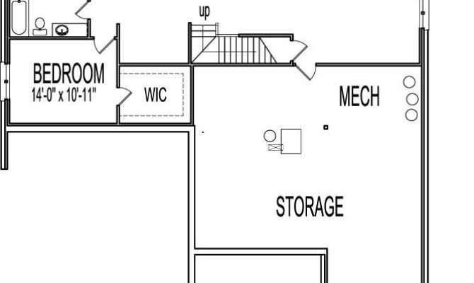 One Bedroom House Plans Basement Lovely