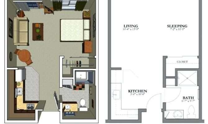 One Bedroom Studio Apartments Plans Savae