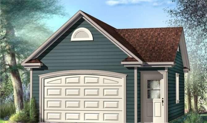 One Car Garage Plans Plan Optional