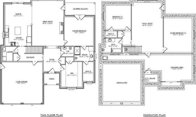 One Level House Plans Basement New Single Story
