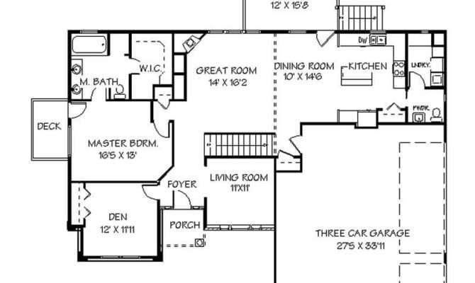 One Story Basement House Plans Unique Single