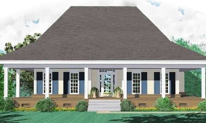 One Story Bedroom Bath Southern Country Farmhouse Style