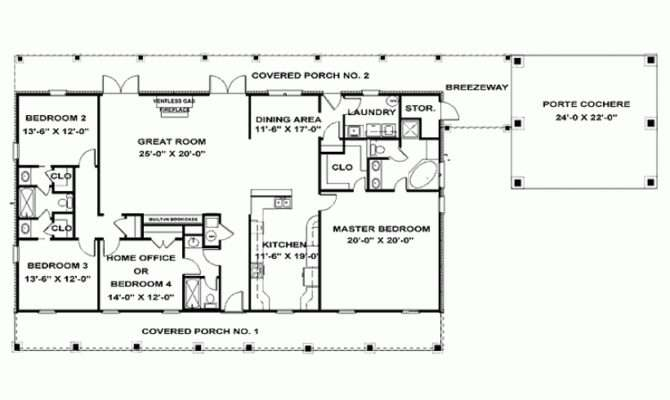 One Story Bedroom House Plans Eplans Ranch Plan Single