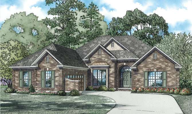 One Story Brick House Plans High Styled Single