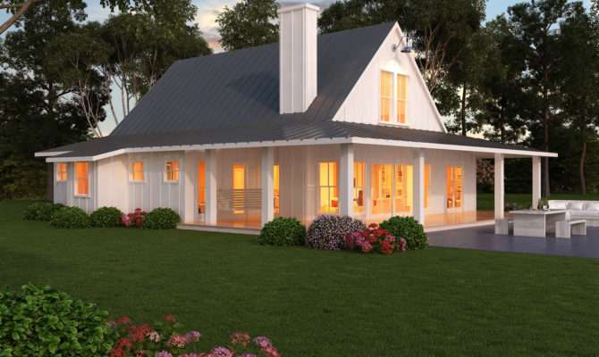 One Story Country House Plans Farmhouse Beds Baths