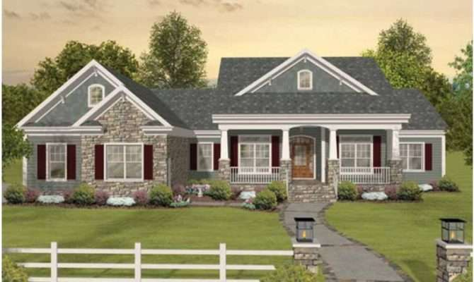 One Story Craftsman Home Plans