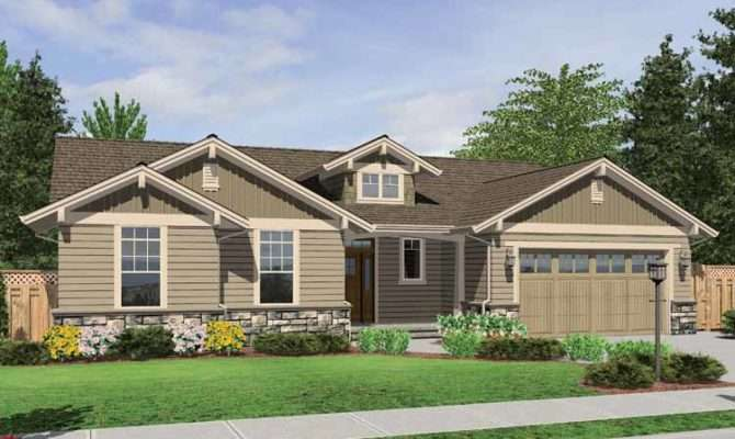 One Story Craftsman Style Homes