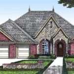 One Story European House Plan Bonus Space