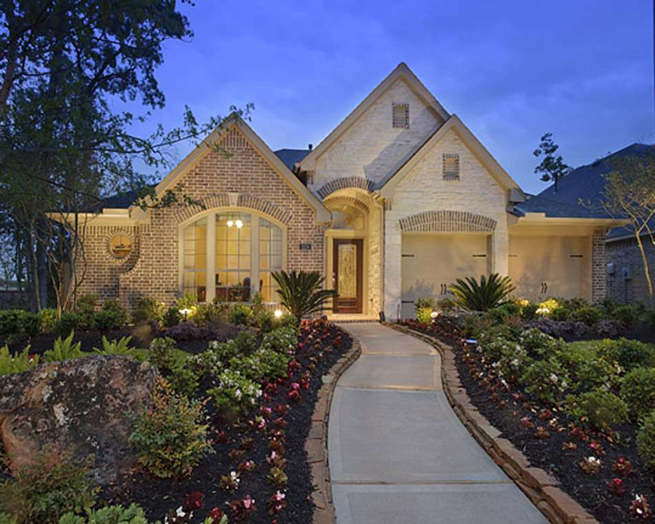 One Story Home Houston Superior Construction Homes Large