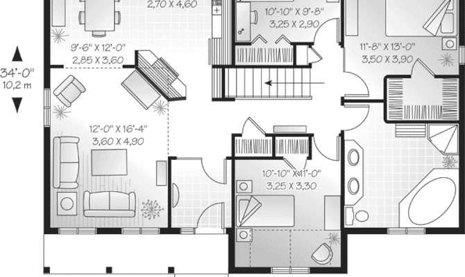 One Story House Floor Plans Designs