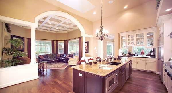One Story House Plans Gourmet Kitchen Home Deco