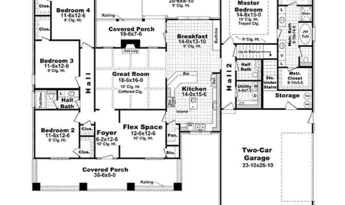 One Story House Plans Under Home Deco