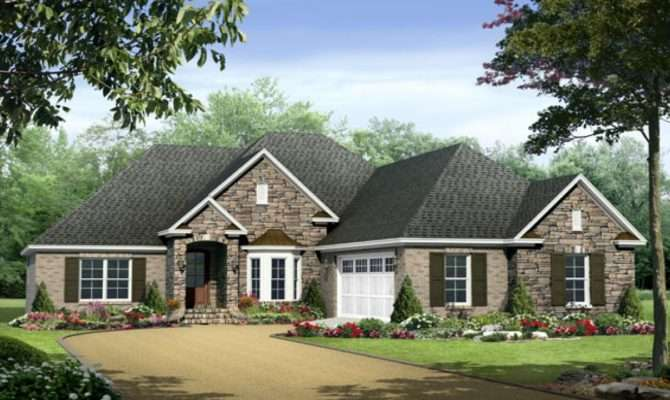 One Story House Plans Wrap