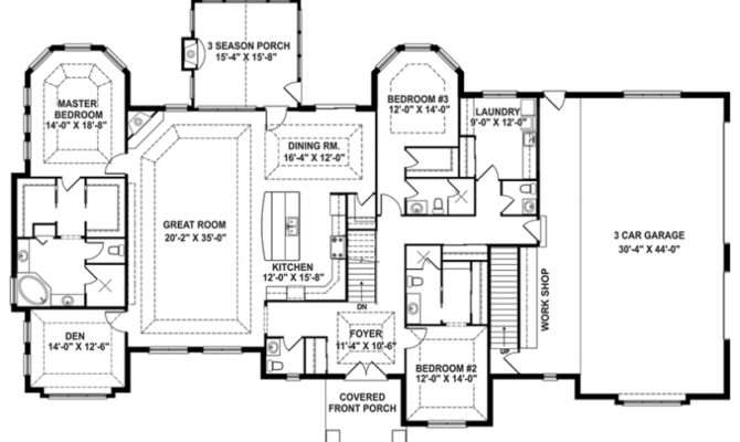One Story Houses Open Floor Plans Eplans Country House Plan