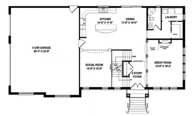 One Story Houses Open Floor Plans Eplans Traditional House