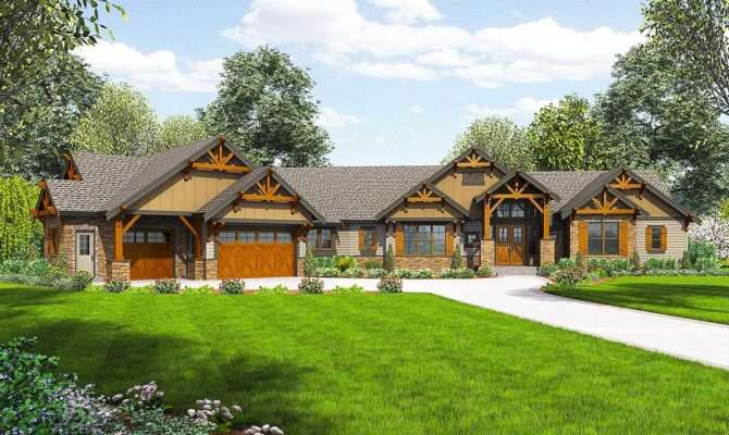 One Story Mountain Ranch Home Options