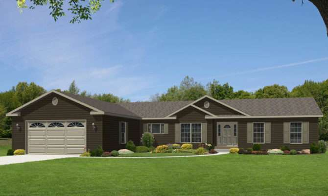 One Story Ranch Houses Glamorgan Modular Home Floor Plan