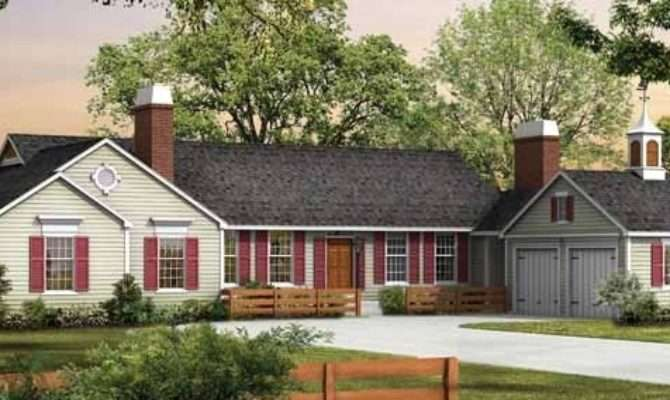 One Story Ranch Style Homes