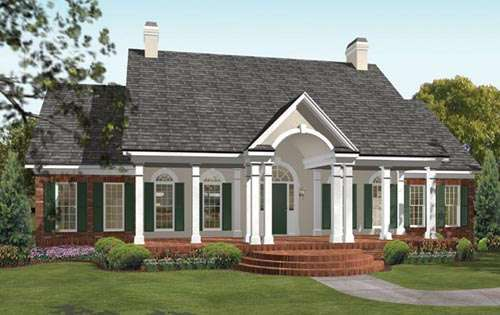 One Story Southern House Plans Smalltowndjs