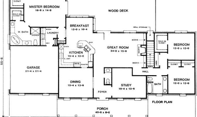 One Story Split Bedroom House Plans Design