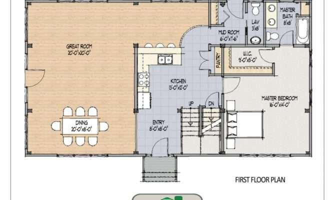 Open Concept Barn Home Plan Main Living Areas Design
