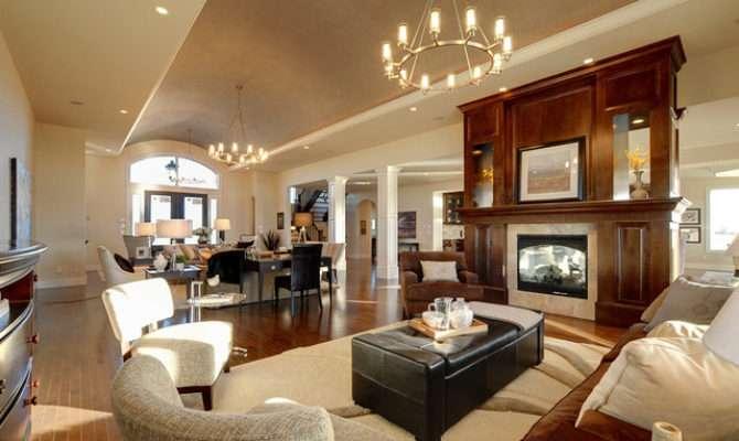 Open Concept Home Contemporary Living Room Calgary