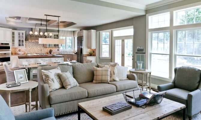 Open Concept Kitchen Living Room Peenmedia