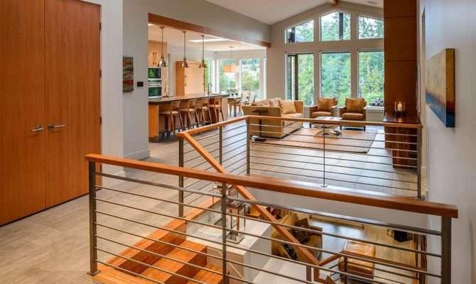 Open Concept Living Kitchen Area Walk Out Basement