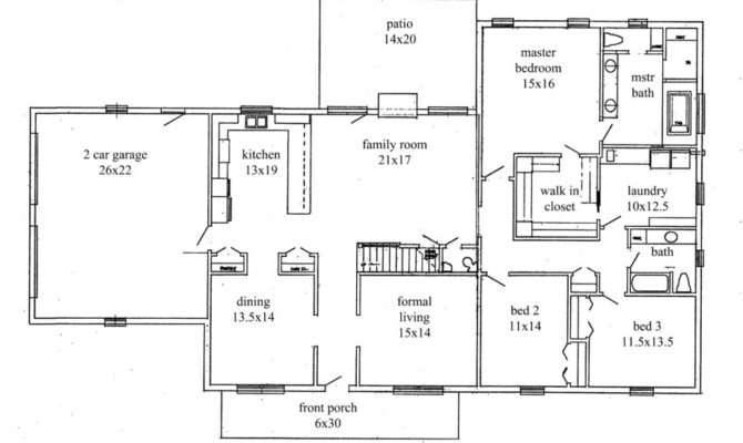 Open Floor Plans Bedroom Ranch Style Homes Wiring Scott