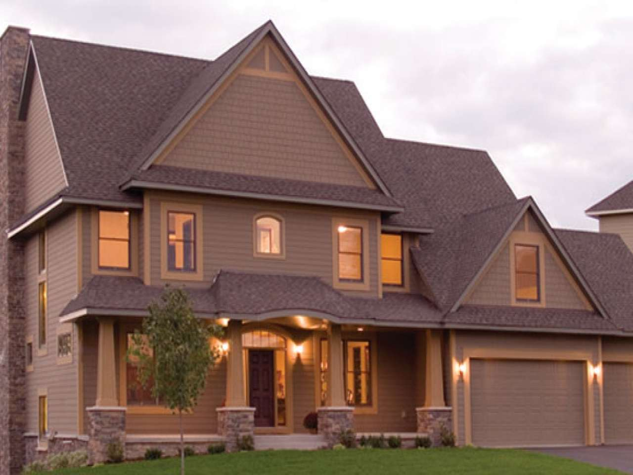 Open Floor Plans Craftsman Style House