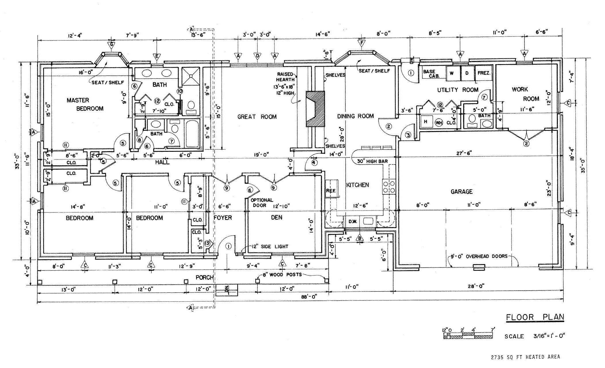 Open Floor Plans Ranch House Designs Garrell Associates