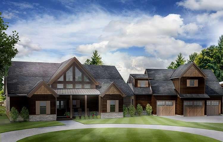 Open House Plan Car Garage Appalachia Mountain