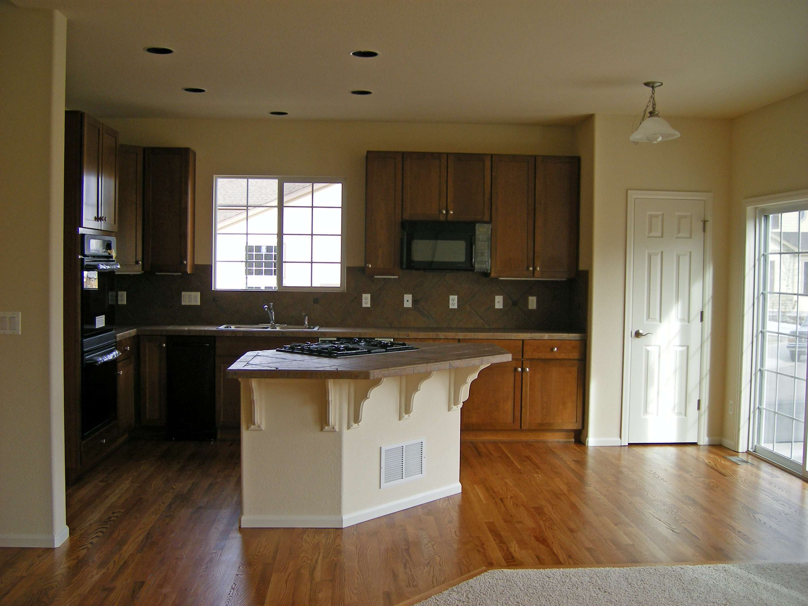 Open Kitchen Floor Plan Home Pinterest