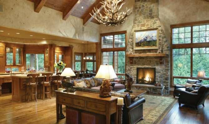 Open Rustic Ranch Floor Plan