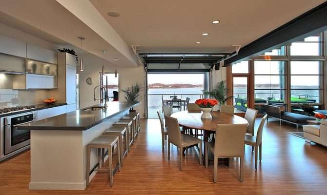 Open Space Kitchen Green House Overlooking Chesapeake Bay Designed