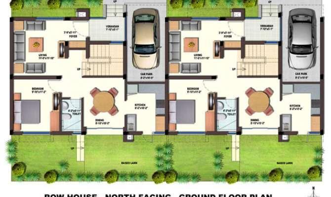 Orchids Kovai Row Houses Floor Plans