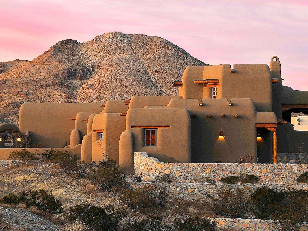 Original Classic New Mexico Homes Southwestern Style Home Exterior