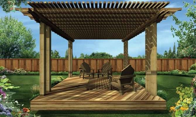 Outdoor Covered Deck Plans Ideas Wood