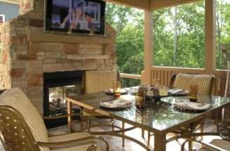 Outdoor Covered Patio Deck Back Yard Wood
