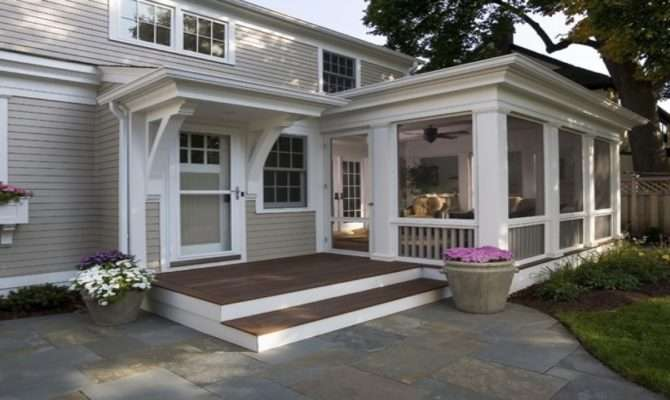 Outdoor Covered Porch Ideas Greek Revival Kitchen