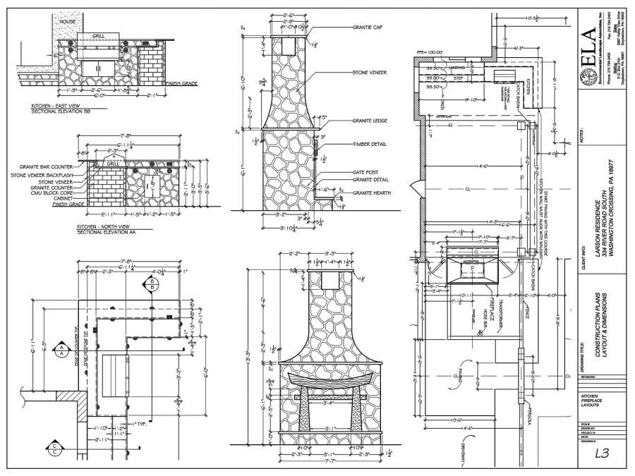 Outdoor Fireplace Construction Plans Bucks County