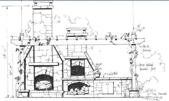Outdoor Fireplace Pizza Oven Plans