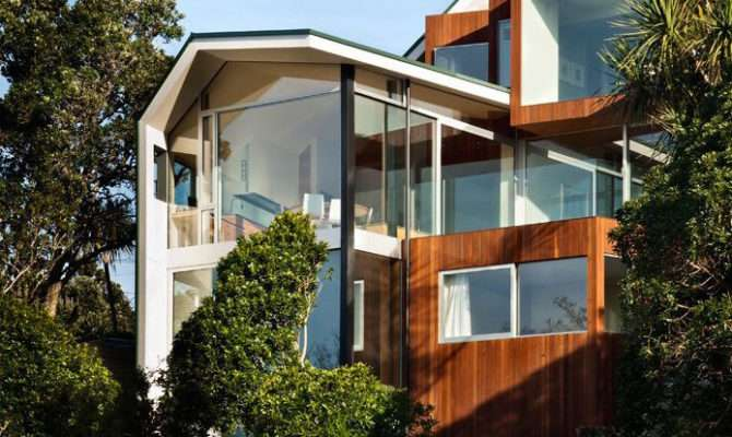 Outdoor Inspired House Glass Walls Wood Ceilings